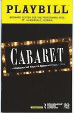 CABARET Playbill RANDY HARRISON (Queer as Folk) National Tour Ft. Lauderdale, FL