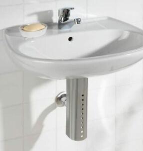 Siphonabdeckung Rohrverkleidung Waschbeckenunterschrank Badezimmer Edelstahl