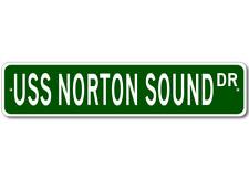 USS NORTON SOUND AVM 1 Street Sign - Navy