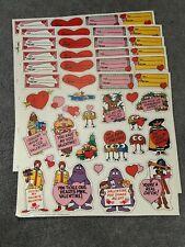 Vintage 1979 McDonald's Valentines lot