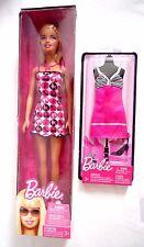 Barbie SUMMER FASHION DOLL MATTEL r4185 con extra Estate Vestito Con/NUOVO