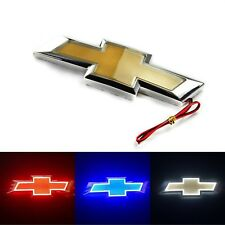 3D LED Light Logo Emblem Decal Trunk Badge Tail Sticker For Chevrolet 3 Colors