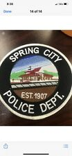 Spring City Police Tennessee Patch