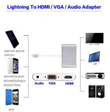 1080P Lightning To HDMI VGA AV Audio Digital Adapter Cable HDTV For iPhone iPad