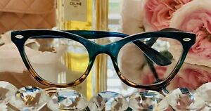 "Cat Eye Demi ""BABY BAN"" Ombre BAMBI TURQUOISE Tortoise Eyeglasses Shadz GAFAS"