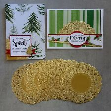 Kaisercraft Gold Foil Doilies Doily 10 Pack Christmas Birthday Cardmaking -