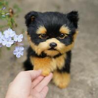 Realistic Yorkie Dog Simulation Toys Dog Puppy Lifelike Stuffed Companion Toys