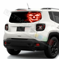 Skulls Decals Rear Window See Thru Stickers Perforated for Jeep Renegade 2020