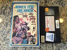 ALGUIEN TIENE QUE MORIR RARE BIG BOX VHS 1979 SPANISH WESTERN RAUL RAMIREZ HTF!