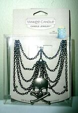 Yankee Candle HALLOWEEN SKULL CHAIN JAR JEWELRY New in Package