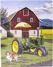 John Deere Farm Tractor Country Farming Harvest Farmer Metal Sign