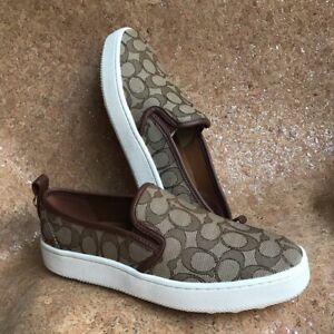 Coach Sig. Platform Lugged Khaki Sneaker Slip C115