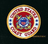 US COAST GUARD HAT PATCH SEMPER PARATUS USCG LOGO QUILT VETERAN GIFT PIN UP WOW