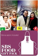 French & Italian Food Safari DVD :Limited Edition Apron Gift Pack Brand New!