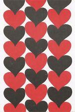 Postcard Maija Isola Marimekko Design: Siamilaissydamet,1965 Hearts MINT Unused