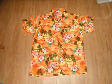 NEW Vintage RIMA Floral  Hawaiian Button  Adults LARGE  100% TERIVOILE Shirt!!