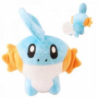 "6""Cute Anime Mudkip Soft Plush Stuffed Doll Toy Birthday Gift  Kids Toy"