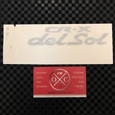 Honda CR-X Del Sol Genuine JDM Decal Civic CRX Rear Sticker Badge OEM 92-96 EG2