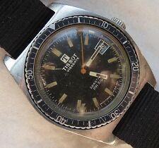 Tissot Visodate Seastar PR516 diver mens wristwatch steel case rotating bezel