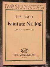 Bach Cantate 106 Actus Tragicus partition orchestre EMB
