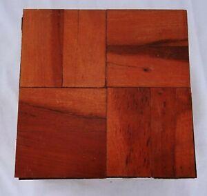 Reclaimed Parquet Flooring Zimbabwe Rhodesian Teak Wood 6 Inch Squares Lot Of 12
