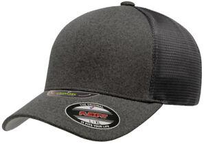 New Flexfit® Unipanel™ Trucker Mesh Curved Visor Cap 5511UP Flex Fit Hat Ballcap