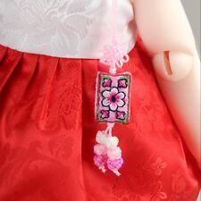 Dollmore doll accessory Square design norigae (Pink)