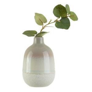Small Grey Glazed Ceramic Bud Vase
