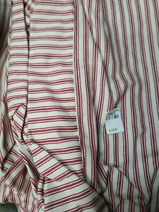 Pottery barn Brooks chair slipcover red ticking stripe. new