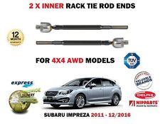 FOR SUBARU IMPREZA 1.6 FB16 4x4 2011-> 2X INNER STEERING RACK TIE ROD END SET
