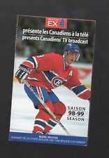 1998-99 MONTREAL CANADIENS POCKET SCHEDULE A