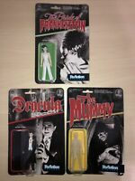 Funko Universal Monsters Dracula Mummy Bride Of Lot ReAction Figure Loose W/Card