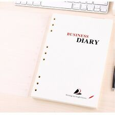 B5 Loose Leaf Notebook Refill Insert Ruled Diary Journal 80 Sheets 9 Holes #UK