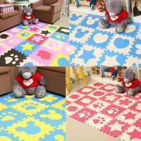 24Pcs Kids Soft Safety Interlock Foam Crawling Mat Play Puzzle Rug Floor Pad