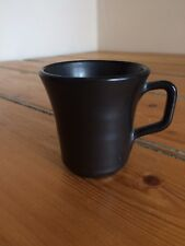 VINTAGE Prinknash Coppa in miniatura in smalto nero opaco grigio latta