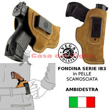 Fondina Vega cuoio molla IB336 per revolver detective ruger sp101 serie IB3