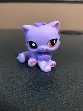 Littlest Pet Shop 1771 Rare Lavender Purple Persian Cat Orange Eyes