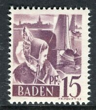 GERMANY ALLIED OCC BADEN;   1947 early pictorial Mint MNH unmounted 15pf.