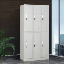 Locker Cabinet with 6 Compartment Metal Storage GYM School Warehouse Dressing