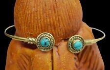 Hand Band Boho Hippie Arm Cuff Afghani Vintage Brass Gold Plated Aram Bracelet