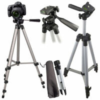 """Universal 50"""" Portable Camera Camcorder Tripod Stand & Carry Case Cannon Samsung"""