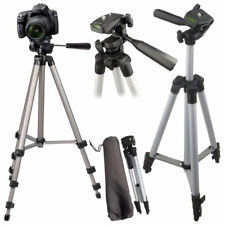 "Universal 50"" Portable Camera Camcorder Tripod Stand & Carry Case Cannon Samsung"