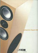Canton Lautsprecher Magazin 2000 / Katalog Prospekt / Ergo Karat Digital