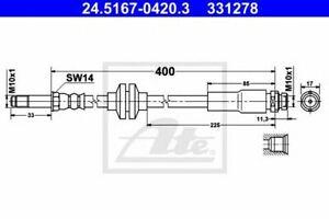 Flexible de frein FORD FOCUS C-MAX 4006633388139