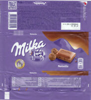 Plastic Chocolate Wrapper / Schokoladenpapier: Milka Noisette; 80g; Balkan 2017