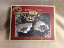 "NIB Spode China Tree Shape Dish Dishes Set of 2~Christmas Tree~6"" XT8250-XP"