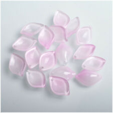 Glaze Beads For Jewelry Earrings Bracelet Diy 10Pcs 13*19Mm Pink Crystal Petals
