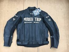 "POWER TRIP Mens Leather Motorbike Biker Jacket UK 40""- 42"" Chest (LB6 (rrp £308)"