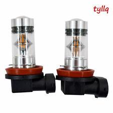 2X 100W H11 H8 H9 High Power CREE 3000K Orange LED Fog Lights Bulbs US w#1 US