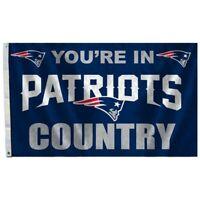 NEW ENGLAND PATRIOTS COUNTRY 3x5ft flag superior quality GENUINE NFL Lic us